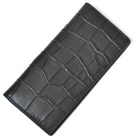 コーチ COACH 財布 長財布 メンズ F73134 QB/BK クロコ エンボス 型押し レザー スリム ブレスト ポケット ウォレット ブラック