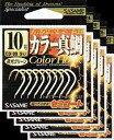 ささめ針 カラー真鯛 10号 夜光グリーン 5枚まとめ買い特価 CD-09 (SASAME・ササメ・マダイ)