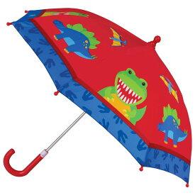【送料無料+最大4%クーポン対象】ステファンジョセフ 男の子用赤恐竜さんの足あと雨の日もへっちゃらカラフルアンブレラ ダイナソー傘 雨具 梅雨対策グッズ Stephen Joseph ディノ 青 かさ カサ