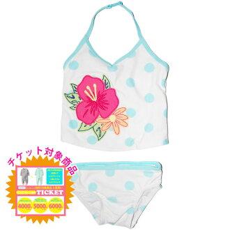 老深藍OLD NAVY女人的孩子酷藍色水珠圖樣haibisukasutankini x比基尼泳裝淡藍色花紋泳衣小孩泳裝