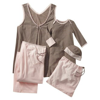 老海軍老海軍媽媽 & 女孩兒童匹配設計產婦睡衣套 | 新嬰兒禮品派送和醫院呆製備臥鋪