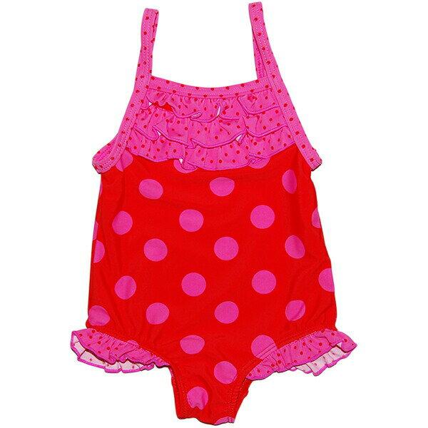 カーターズ carter's 女の子用赤&ピンク水玉模様フリル付きワンピース水着 出産祝い 【あす楽対応】【ラクーポンで送料無料】【楽ギフ_包装選択】