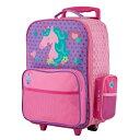 ステファンジョセフ 女の子用パープルユニコーンGO-GOキャリーケース 直立型 【6歳以上対象】 トローリー キャリーバッグ スーツケース…