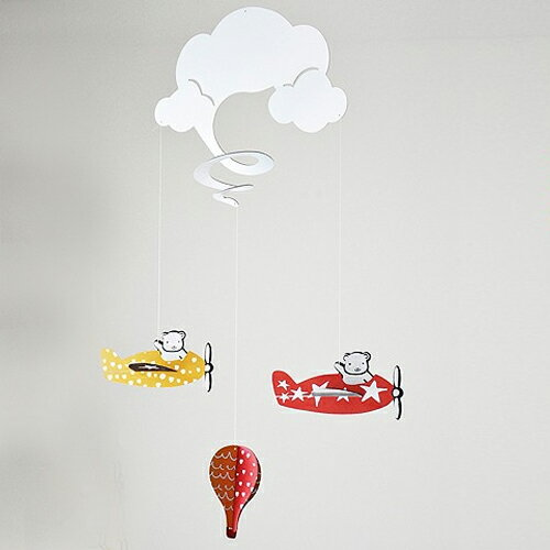 Wee Gallery ウィーギャラリー 【モービルin the cloud】 パイロットくまさん知育モバイル クマさんベットメリー ベビーメリー 知育インテリア 出産祝い … 【ラクーポンで送料無料】【楽ギフ_包装選択】