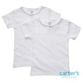 【ニコニコ割引チケット対象】 カーターズ carter's 【新サイズ2-14歳用】 女の子用真っ白なエンジェルリボン付き半袖肌着2枚セット アンダーウェア 子供用下着 肌着 Tシャツ シミーズ しみーず 無地 【ラクーポンで送料無料】【楽ギフ_包装選択】