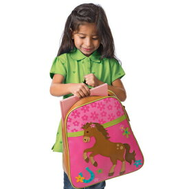 【送料無料★マラソン5%割引】 ステファンジョセフ 女の子用GO-GO BAG花柄ポニーリュック バックパック かばん バッグ 遠足 ピンク仔馬さん柄バッグ