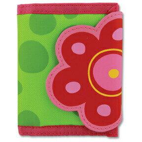 ステファンジョセフ Stephen Joseph 女の子用黄緑&ピンクお花のお財布 花柄小銭入れ 小物入れ ベビー用ポーチ さいふ 水玉模様子供用財布 【ラクーポンで送料無料】