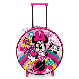 Disney ディズニー ミニーマウス Minnie Mouse ミニーローリングラゲージ コロコロ付きキャリーケース スーツケース トローリーバッグ キャリーバッグ カバン 鞄 バッグ 旅行 【ラ・クーポンで送料無料】