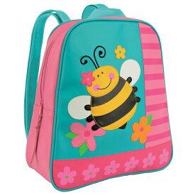 【送料無料◎クーポン対象】ステファンジョセフ 女の子用GO-GO BAG水色xピンク花柄ミツバチリュック ストライプバックパック キッズかばん バッグ 通園・通学バッグ