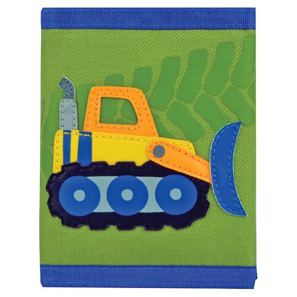ステファンジョセフ Stephen Joseph 男の子用黄緑ブルドーザーのお財布 働く車 グリーン小銭入れ小物入れ ベビー用ポーチ さいふ 子供用財布 【ラクーポンで送料無料】