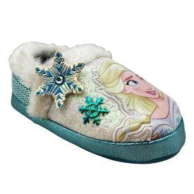 【送料無料★割引クーポン対象】【海外限定・日本未発売】 Disney ディズニー アナと雪の女王 Frozen 2 スノーフレークデコレーション付きエルサルームスリッパ(Light Blue) エルサ アナ オラフ 子供靴 女の子用シューズ