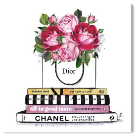 【送料無料+P3倍+クーポン】【まとめ買い割引★2枚目5%+3枚目10%OFF】 Oliver Gal オリバーガル 約61x61cm Doll Memories - Books Library シャネル Chanel キャンバスアート インテリア 衣替え 引越し祝い