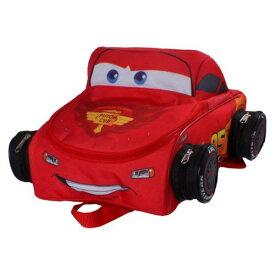 【送料無料+最大1000円OFFクーポン】Disney ディズニー Cars カーズ 車輪もリアル!! 男の子用3D立体ライトニング・マックィーンお出かけ用リュックサック バックパック カバン 鞄 デイバッグ 旅行 Pixer ピクサー