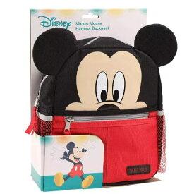 【送料無料+クーポン対象】Disney ディズニー Mickey Mouse 男の子用ミッキーマウスお出かけ用ハーネス付きリュックサック バックパック 迷子 ひも 安全 頭 転倒 防止 事故 旅行