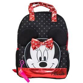 【送料無料+クーポン対象】Disney ディズニー Minnie Mouse 女の子用ミニーマウス3D立体ポケット付きリュックサック バックパック カバン 鞄 デイバッグ 旅行