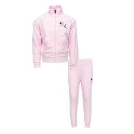 【送料無料+マラソンP5倍+クーポン】 nike ナイキ ジョーダン 女の子用Jordan JUMPMAN CLASSICS III 上下2点セット(Pink Foam) 子供用スウェットパンツ ジャージ セットアップ 誕生日プレゼント