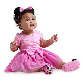 Disney ディズニー Minnie Mouse 女の子用ミニーマウスピンクハートボディースーツ2点セット 立体リボン付きヘッドバンド ロンパース パジャマ 【ラ・クーポンで送料無料】【楽ギフ_包装選択】