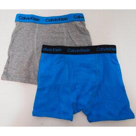 Calvin Klein カルバンクライン 【激レア】 4-18歳用サイズ 男の子用グレーxブルー前開きボクサーパンツ2枚セット 下着 肌着 アンダーウェア boy underwear 【ラクーポンで送料無料】【楽ギフ_包装選択 】