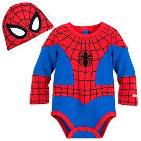 Disney ディズニー Spider-Man スパイダーマンボディースーツxベビーハット2点セット ロンパース ベビーキャップ 帽子 ハロウィン 出産祝い 【ラ・クーポンで送料無料】【楽ギフ_包装選択】