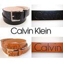 Calvin Klein カルバンクライン 【ユニセックス☆男女兼用】 CKロゴデボス加工ベルト ブラック ブラウン Belt 茶色 黒 小物・アクセサ…