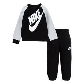【送料無料+楽天P2倍+クーポン】 nike ナイキ 男の子用大きなロゴがCOOLなSportswear Futuraフリース上下2点セット(Black) セットアップ ジョガーパンツ