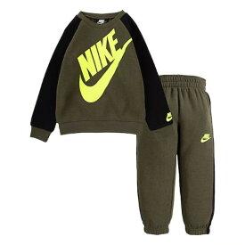 【送料無料+楽天P2倍+クーポン】 nike ナイキ 男の子用大きなロゴがCOOLなSportswear Futuraフリース上下2点セット(Khaki) セットアップ ジョガーパンツ