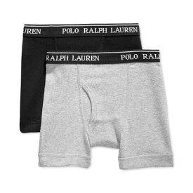 【ニコニコ割引対象】 Polo Ralph Lauren ポロラルフローレン 4-18歳用サイズ 男の子用ブラックxグレーボクサーパンツ2枚セット 下着 boy underwear 【楽ギフ_包装選択 】