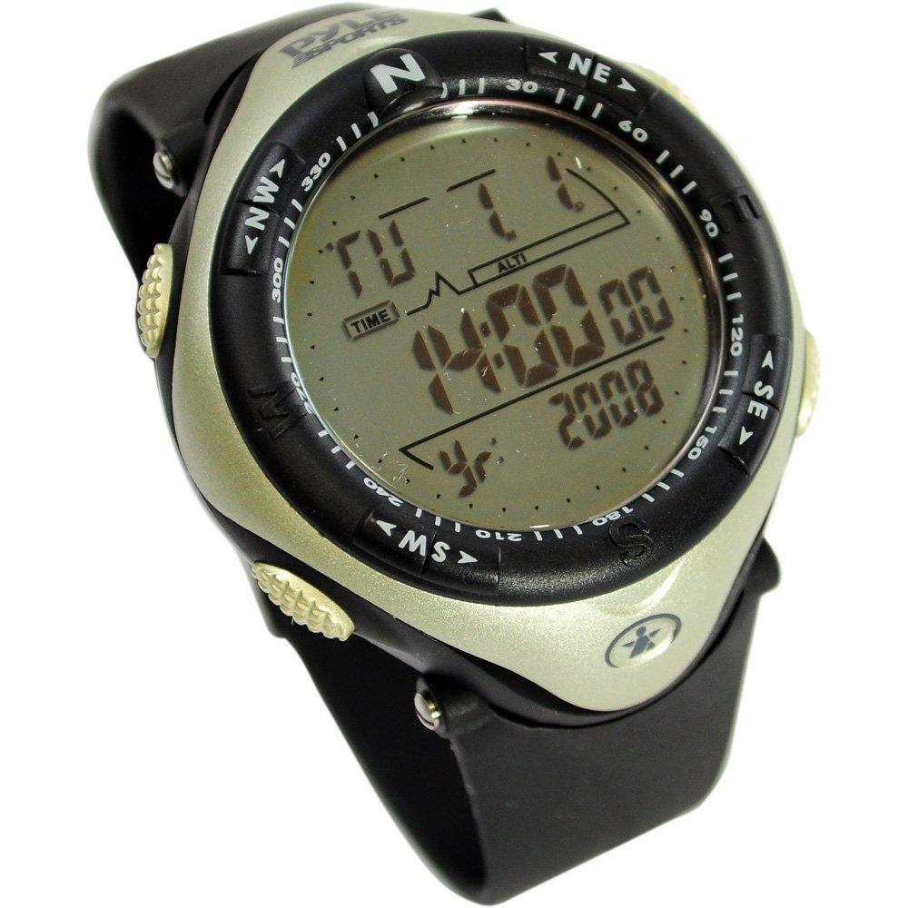 Pyle Sports PAW1 高度計 気圧計 デジタルウォッチ 多機能デジタルウォッチ