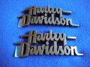Harley Davidson ハーレー ダイナストリートボブ 純正タンク用 エンブレム左右セット