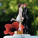 ケーキトッパー ロマンチック編 スーツケースの上でKiss