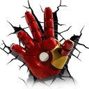 Iron Man 3 Mask 3D Deco Light アイアンマン 3 3Dデコライト ハンド ひび割れステッカー ウォールライト LED