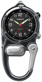 ダコタ Dakota カラビナ ウォッチ 時計 ミニ クリップ 時計 マイクロライト ガンメタル