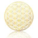 高級 フラワーオブライフ メタル ステッカー ゴールド 46mm flower of life 生命の花 神聖幾何学模様