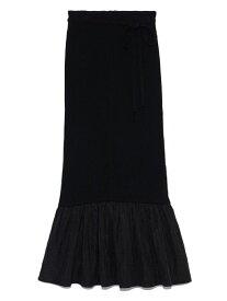 [Rakuten Fashion]ヘムギャザードッキングスカート SNIDEL スナイデル スカート ロングスカート ブラック ホワイト ブラウン【送料無料】