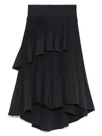 [Rakuten Fashion]プリーツフレアミニスカート SNIDEL スナイデル スカート ミニスカート ブラック ブラウン ブルー【送料無料】