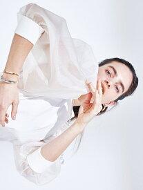 オーガンザスリーブドッキングトップス styling/ スタイリング シャツ/ブラウス シャツ/ブラウスその他 ホワイト ブラック【送料無料】[Rakuten Fashion]