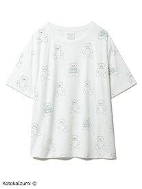 【kotoka izumi】ベアモチーフTシャツ gelato pique ジェラートピケ インナー/ナイトウェア ルームウェア/トップス ホワイト【送料無料】[Rakuten Fashion]