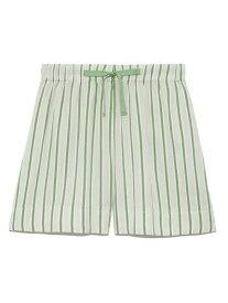 【SALE/30%OFF】ストライプコットンショートパンツ SNIDEL HOME スナイデルホーム パンツ/ジーンズ ショートパンツ ホワイト ピンク【RBA_E】[Rakuten Fashion]