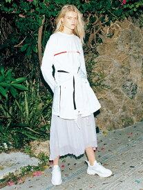 [Rakuten Fashion]スポーティプリーツコンビOP SNIDEL スナイデル ワンピース ワンピースその他 ホワイト ブラック【送料無料】