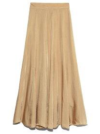 [Rakuten Fashion]サテンフレアロングSK SNIDEL スナイデル スカート ロングスカート ベージュ ブルー ブラウン【送料無料】