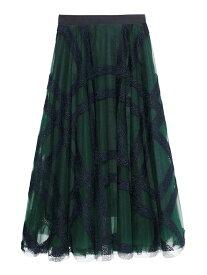 [Rakuten Fashion]エンブロイダリーチェックスカート SNIDEL スナイデル スカート ロングスカート ホワイト【送料無料】