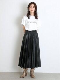 [Rakuten Fashion]レザープリーツスカート SNIDEL スナイデル スカート ロングスカート ブラック ブラウン ピンク【送料無料】