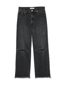 [Rakuten Fashion]【SALE/30%OFF】膝スリット入デニムPT Mila Owen ミラオーウェン パンツ/ジーンズ ストレートジーンズ ブラック ブルー【RBA_E】【送料無料】