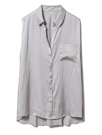 【SALE/30%OFF】クールサテンシャツ gelato pique ジェラートピケ インナー/ナイトウェア ルームウェア/トップス グレー ホワイト【RBA_E】【送料無料】[Rakuten Fashion]