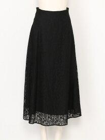 [Rakuten Fashion]ナローシルエットレースミドルSK SNIDEL スナイデル スカート ロングスカート ブラック ブルー ブラウン【送料無料】