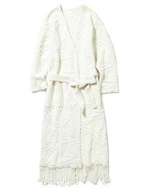 【SALE/30%OFF】リーフジャガードガウン gelato pique ジェラートピケ インナー/ナイトウェア ルームウェア/はおり ホワイト【RBA_E】【送料無料】[Rakuten Fashion]