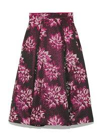 [Rakuten Fashion]オリジナルジャガードフレアミドルスカート SNIDEL スナイデル スカート フレアスカート ブラック ネイビー シルバー【送料無料】
