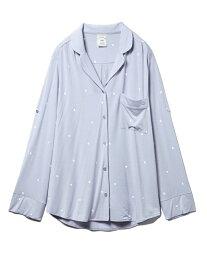 [Rakuten Fashion]ハート柄シャツ gelato pique ジェラートピケ インナー/ナイトウェア ルームウェア/トップス ブルー ホワイト【送料無料】