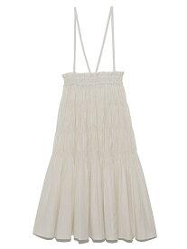 シアーギャザーロングスカート Lily Brown リリーブラウン スカート ロングスカート ホワイト グレー ピンク【送料無料】[Rakuten Fashion]