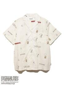 【PEANUTS】モノグラムシャツ gelato pique ジェラートピケ インナー/ナイトウェア ルームウェア/トップス ホワイト ブルー【送料無料】[Rakuten Fashion]